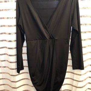 Black Tulip Hem Club Dress